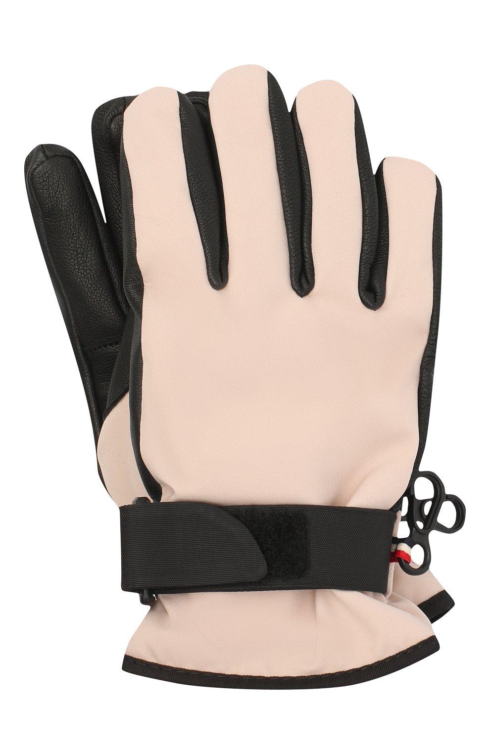 Детские перчатки MONCLER светло-розового цвета, арт. F2-954-3A701-00-53873 | Фото 1