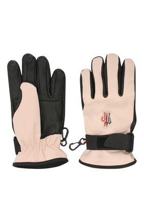 Детские перчатки MONCLER светло-розового цвета, арт. F2-954-3A701-00-53873 | Фото 2