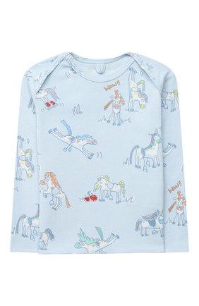 Детский комплект из лонгслива и брюк STELLA MCCARTNEY голубого цвета, арт. 601486/SPJ10 | Фото 2