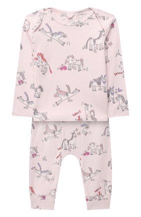 Детский комплект из лонгслива и брюк STELLA MCCARTNEY розового цвета, арт. 601485/SPJ10 | Фото 1