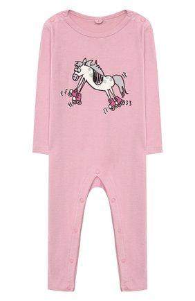 Детский комплект из двух комбинезонов STELLA MCCARTNEY розового цвета, арт. 601484/SPJ10 | Фото 2