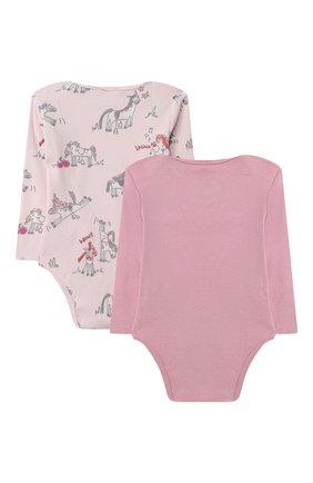 Детское комплект из двух боди STELLA MCCARTNEY розового цвета, арт. 601483/SPJ10 | Фото 2