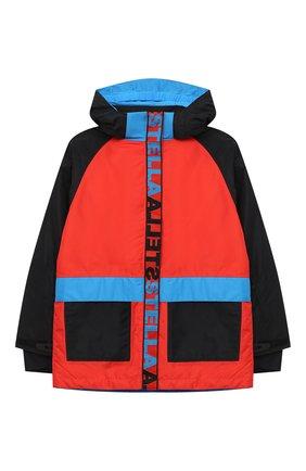 Детского куртка с капюшоном STELLA MCCARTNEY разноцветного цвета, арт. 601436/SPK37 | Фото 1