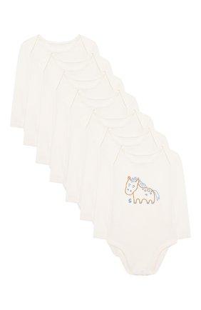 Детское комплект из семи боди STELLA MCCARTNEY белого цвета, арт. 601403/SPJ71 | Фото 1