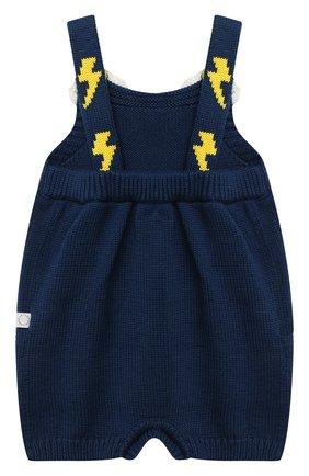 Детское хлопковое боди STELLA MCCARTNEY темно-синего цвета, арт. 601400/SPM27 | Фото 2