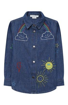 Детское джинсовая рубашка STELLA MCCARTNEY синего цвета, арт. 601281/SPKA8 | Фото 1