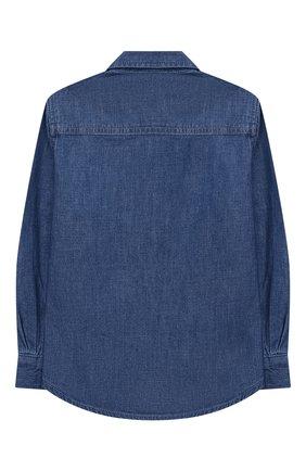 Детское джинсовая рубашка STELLA MCCARTNEY синего цвета, арт. 601281/SPKA8 | Фото 2