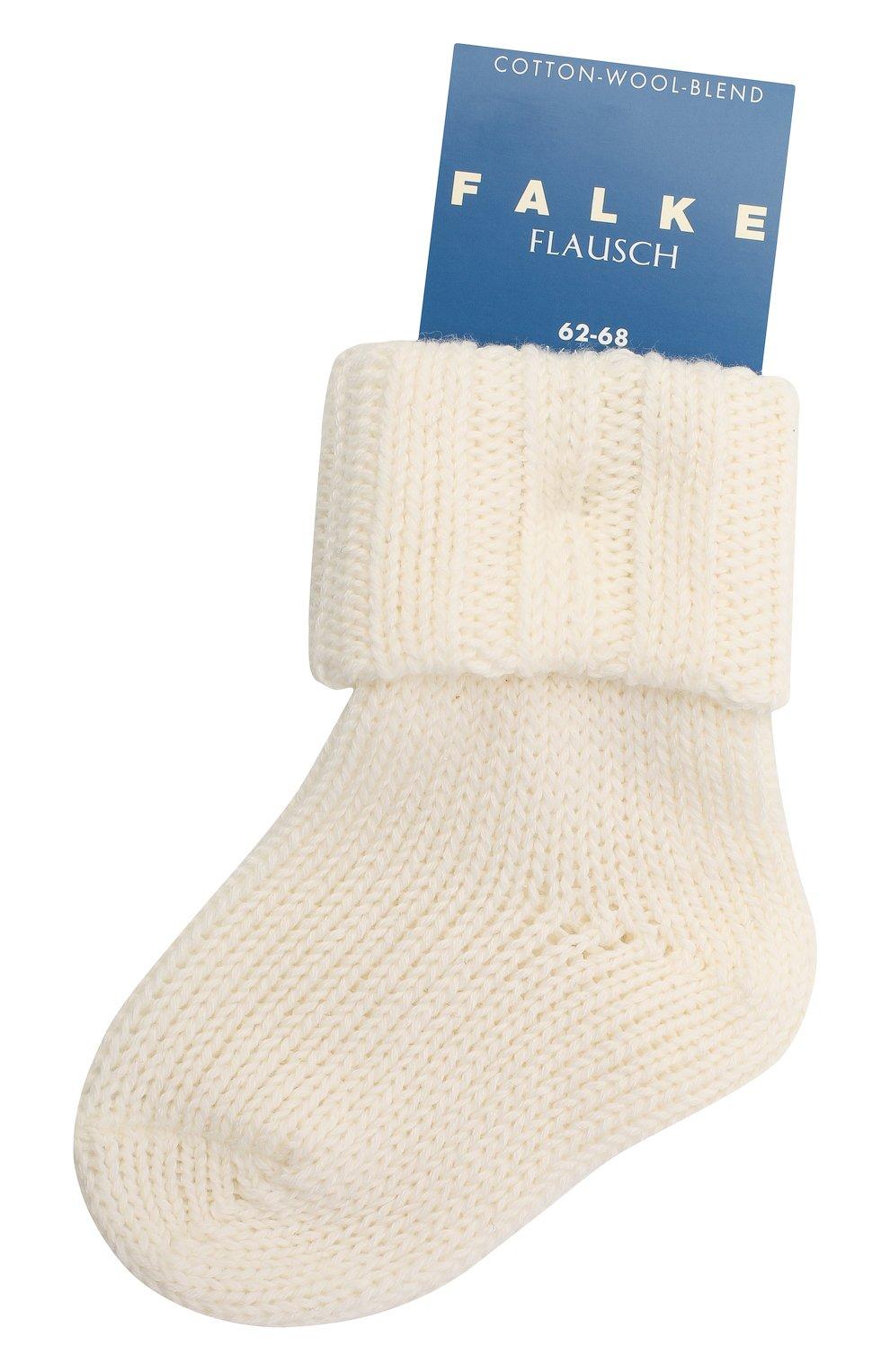 Детские хлопковые носки FALKE бежевого цвета, арт. 10408. | Фото 1 (Материал: Текстиль, Хлопок)