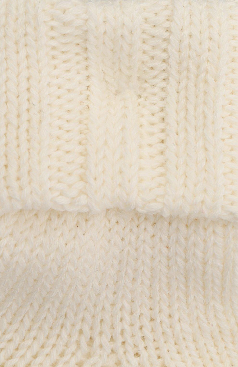 Детские хлопковые носки FALKE бежевого цвета, арт. 10408. | Фото 2 (Материал: Текстиль, Хлопок)
