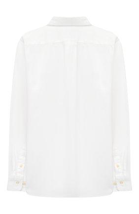 Детская хлопковая рубашка RALPH LAUREN белого цвета, арт. 323819238 | Фото 2