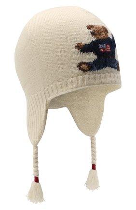 Детского шерстяная шапка RALPH LAUREN бежевого цвета, арт. 311761685 | Фото 1