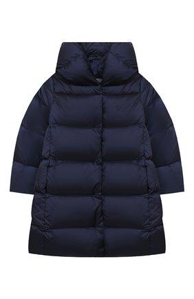 Детское пуховое пальто POLO RALPH LAUREN синего цвета, арт. 312795699 | Фото 1