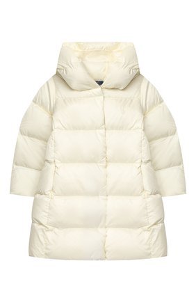 Детское пуховое пальто POLO RALPH LAUREN белого цвета, арт. 312795699 | Фото 1
