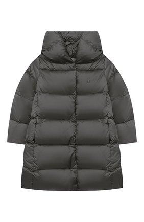 Детское пуховое пальто POLO RALPH LAUREN серого цвета, арт. 312795699 | Фото 1