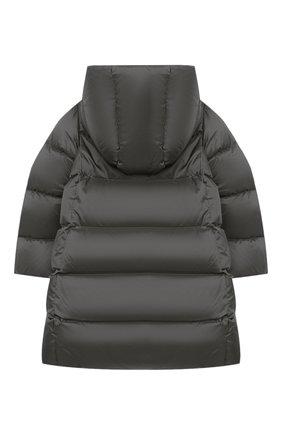 Детское пуховое пальто POLO RALPH LAUREN серого цвета, арт. 312795699 | Фото 2