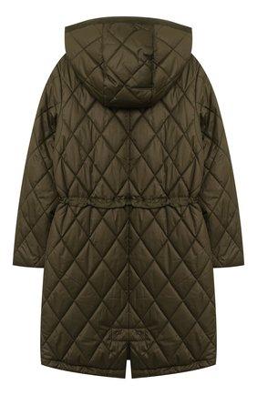 Детское стеганое пальто POLO RALPH LAUREN хаки цвета, арт. 313795694   Фото 2