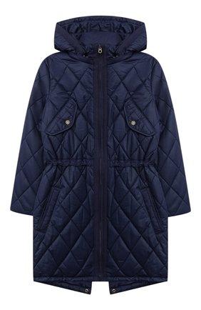 Детское стеганое пальто POLO RALPH LAUREN синего цвета, арт. 313795694   Фото 1