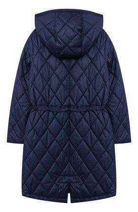 Детское стеганое пальто POLO RALPH LAUREN синего цвета, арт. 313795694   Фото 2