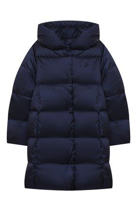 Детское пуховое пальто POLO RALPH LAUREN синего цвета, арт. 313795699   Фото 1