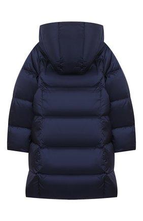 Детское пуховое пальто POLO RALPH LAUREN синего цвета, арт. 313795699   Фото 2