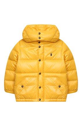 Детский пуховая куртка RALPH LAUREN желтого цвета, арт. 321795538 | Фото 1