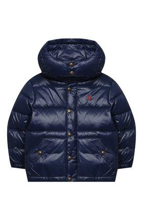 Детский пуховая куртка POLO RALPH LAUREN темно-синего цвета, арт. 323795538 | Фото 1