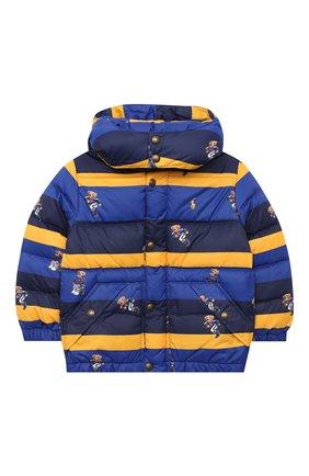 Детский пуховая куртка POLO RALPH LAUREN разноцветного цвета, арт. 323797761 | Фото 1