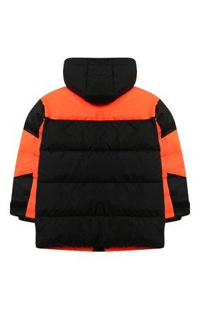 Детский пуховая куртка DSQUARED2 оранжевого цвета, арт. DQ046M-D00ZM | Фото 2