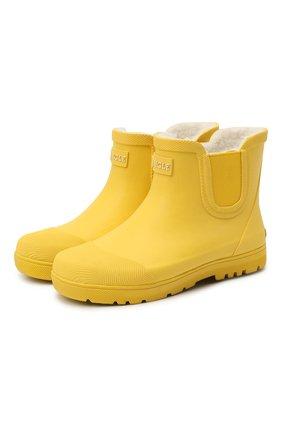 Детские резиновые сапоги AIGLE желтого цвета, арт. R10923/CHELSEA KID | Фото 1