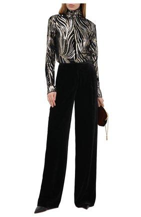 Женские брюки из вискозы и шелка ZUHAIR MURAD черного цвета, арт. TRP20340/VESB003 | Фото 2