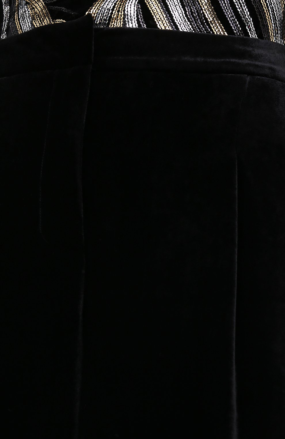 Женские брюки из вискозы и шелка ZUHAIR MURAD черного цвета, арт. TRP20340/VESB003   Фото 5 (Длина (брюки, джинсы): Удлиненные; Женское Кросс-КТ: Брюки-одежда; Силуэт Ж (брюки и джинсы): Прямые; Материал внешний: Вискоза; Стили: Романтичный)