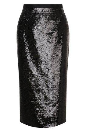 Женская юбка ZUHAIR MURAD черного цвета, арт. SKP20311/EMSE004 | Фото 1 (Женское Кросс-КТ: Юбка-карандаш, Юбка-одежда; Материал внешний: Синтетический материал; Длина Ж (юбки, платья, шорты): Миди; Стили: Романтичный; Материал подклада: Купро)
