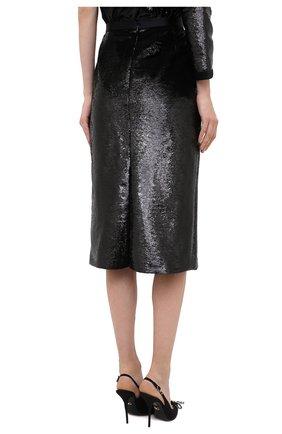 Женская юбка ZUHAIR MURAD черного цвета, арт. SKP20311/EMSE004 | Фото 4 (Женское Кросс-КТ: Юбка-карандаш, Юбка-одежда; Материал внешний: Синтетический материал; Длина Ж (юбки, платья, шорты): Миди; Стили: Романтичный; Материал подклада: Купро)