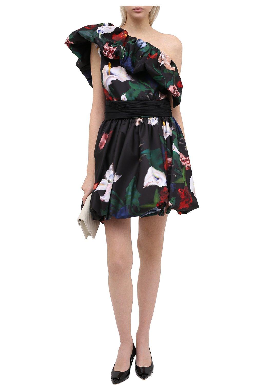 Женское платье ZUHAIR MURAD разноцветного цвета, арт. DRP20313/FAPL002   Фото 2 (Случай: Коктейльный; Длина Ж (юбки, платья, шорты): Мини; Рукава: Короткие, С открытыми плечами, Без рукавов; Материал внешний: Синтетический материал; Материал подклада: Синтетический материал; Стили: Романтичный; Женское Кросс-КТ: Платье-одежда)