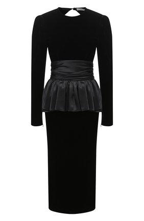 Женское платье из вискозы ALESSANDRA RICH черного цвета, арт. FAB2221-F2603 | Фото 1