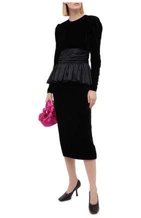 Женское платье из вискозы ALESSANDRA RICH черного цвета, арт. FAB2221-F2603 | Фото 2