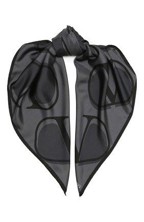 Женский шелковый платок valentino garavani VALENTINO черного цвета, арт. UW0EI114/HLN | Фото 1