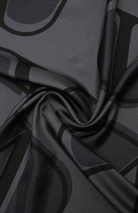 Женский шелковый платок valentino garavani VALENTINO черного цвета, арт. UW0EI114/HLN | Фото 2