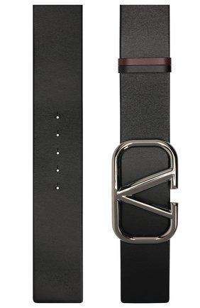 Женский кожаный ремень  VALENTINO черного цвета, арт. UW0T0S10/YYF | Фото 2 (Материал: Кожа)