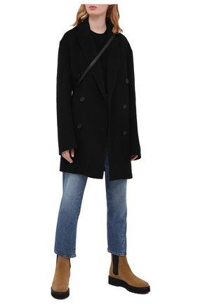 Женские комбинированные ботинки TOD'S светло-коричневого цвета, арт. XXW80C0DR70RE0 | Фото 2