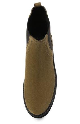 Женские комбинированные ботинки TOD'S хаки цвета, арт. XXW80C0DR70RE0 | Фото 5