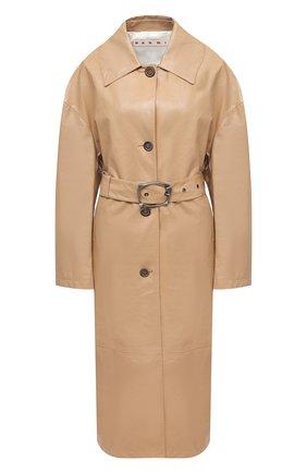 Женское кожаное пальто MARNI бежевого цвета, арт. CPMX0122CU/LA730 | Фото 1