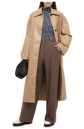 Женское кожаное пальто MARNI бежевого цвета, арт. CPMX0122CU/LA730 | Фото 2