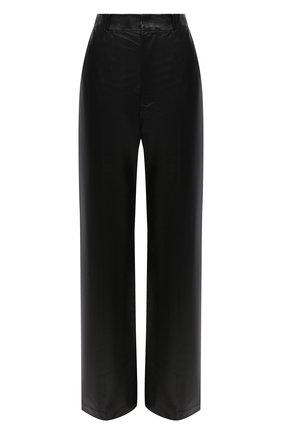 Женские кожаные брюки MARNI черного цвета, арт. PAMX0197MU/LA730 | Фото 1