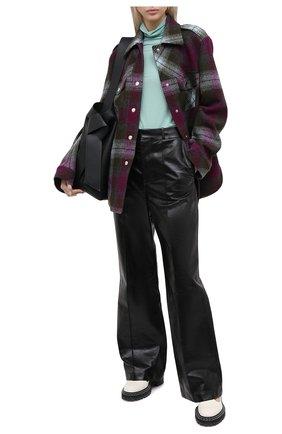 Женские кожаные брюки MARNI черного цвета, арт. PAMX0197MU/LA730 | Фото 2