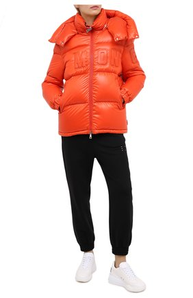 Женский пуховик MONCLER оранжевого цвета, арт. F2-093-1A52E-40-68991 | Фото 2