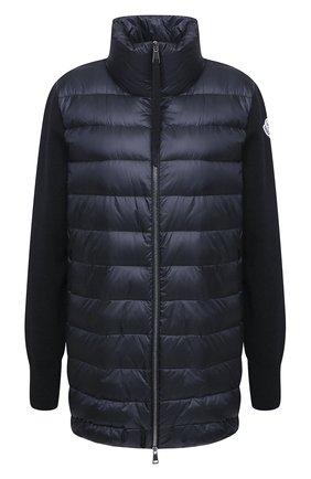 Женская пуховая куртка MONCLER темно-синего цвета, арт. F2-093-9B512-00-A9018 | Фото 1
