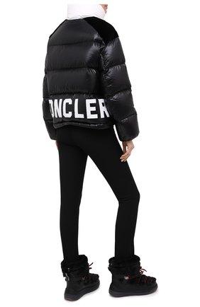 Женский пуховая куртка MONCLER черного цвета, арт. F2-093-1A52B-00-C0232 | Фото 2