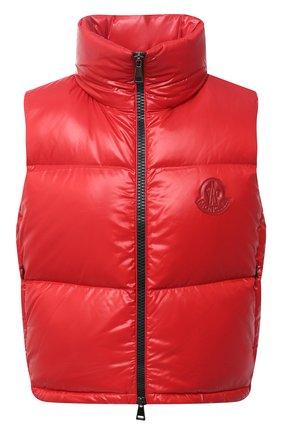 Женский пуховый жилет MONCLER красного цвета, арт. F2-093-1A563-00-C0065 | Фото 1