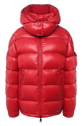 Женский пуховая куртка MONCLER красного цвета, арт. F2-093-1A576-00-C0064 | Фото 1